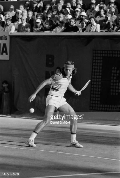 Guillermo Vilas en huitième de finale à RolandGarros le 31 mai 1977 Paris France