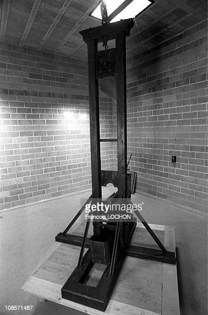 Guillotine at the Museum of Justice and Punishment in Fontaine de Vacluse France on November 17 1995