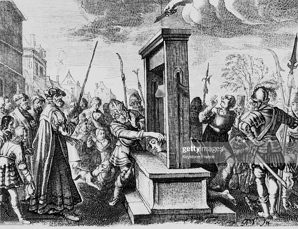 Guillotine In 16Th Century In France : News Photo