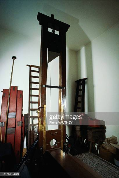A guillotine sits in storage in Fresnes Prison the largest prison in France after the French government abolished the death penalty The guillotine...