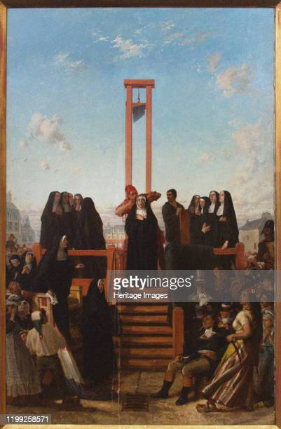 Guillotine The Carmelites of Compiègne First half of the 19th cent Private Collection Artist Delaroche Paul Hippolyte