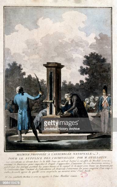 A guillotine used for carrying out executions by beheading The device is best known for its use in France in particular during the French Revolution...