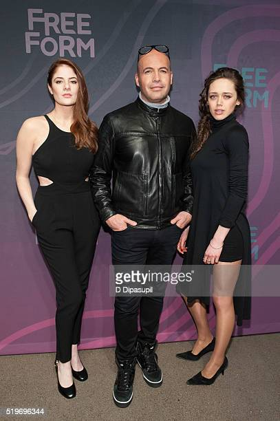Guilt' cast members Emily Tremaine, Billy Zane, and Daisy Head attend the 2016 ABC Freeform Upfront at Spring Studios on April 7, 2016 in New York...