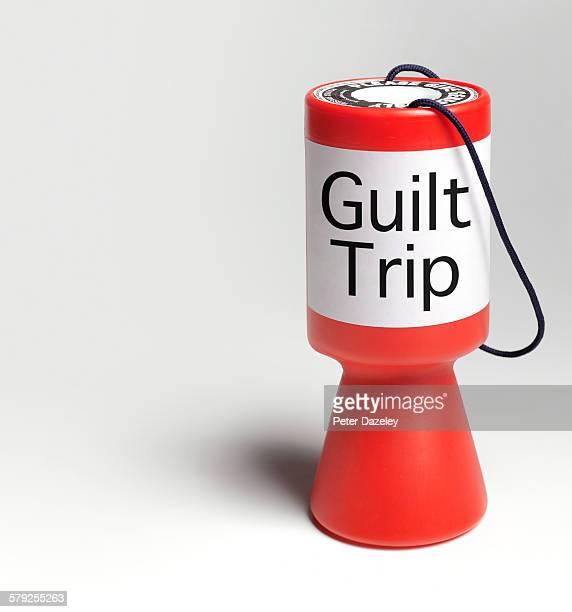 Guilt trip donation box