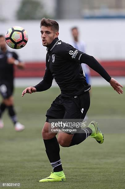 Guimaraes' defender Joao Vigario during the Portuguese Cup match between Santa Iria and Guimaraes at Campo do Sacavenense on October 16 2016 in...