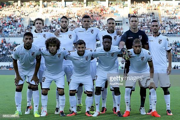 Guimaraes inicial team during the match between Vitoria Guimaraes v Porto match for the Guimaraes City Trophy at Estadio da Dom Afonso Henriques on...