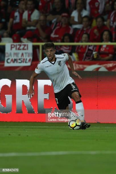Guimaraes's defender Joao Vigario from Portugal during the match between SL Benfica and VSC Guimaraes at Estadio Municipal de Aveiro on August 05...