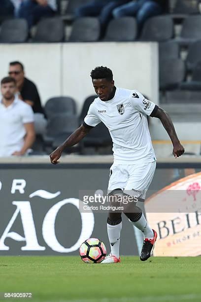 Guimaraes's forward Francis during the match between Vitoria Guimaraes v Porto match for the Guimaraes City Trophy at Estadio da Dom Afonso Henriques...