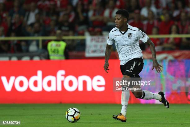 Guimaraes's midfielder Bongani Zungu from South Africa during the match between SL Benfica and VSC Guimaraes at Estadio Municipal de Aveiro on August...