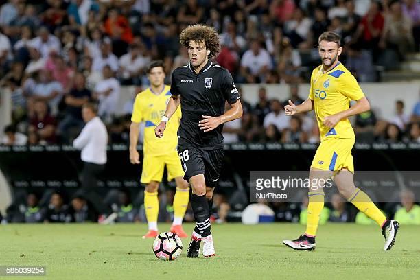 Guimaraes's midfielder Joao Pedro during the match between Vitoria Guimaraes v Porto match for the Guimaraes City Trophy at Estadio da Dom Afonso...