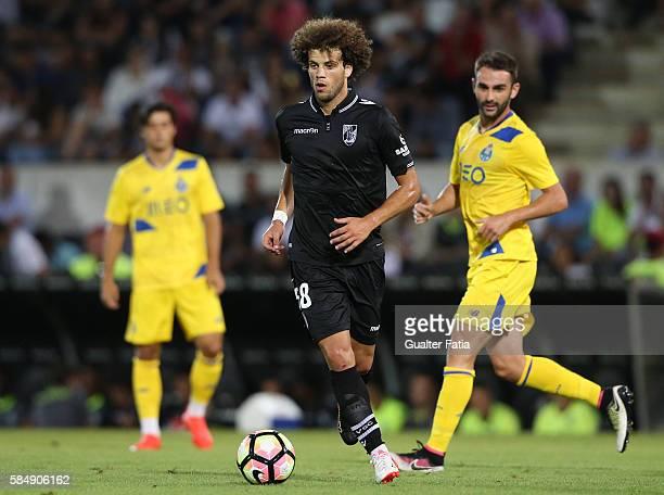 Guimaraes's midfielder Joao Pedro in action during the Guimaraes City Trophy match between Vitoria de Guimaraes and FC Porto at Estadio D Afonso...