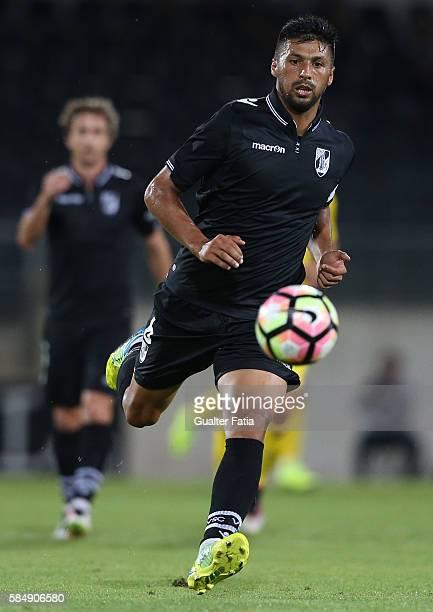 Guimaraes's midfielder Moreno in action during the Guimaraes City Trophy match between Vitoria de Guimaraes and FC Porto at Estadio D Afonso...
