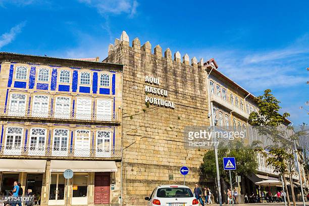guimarães city, the birthplace of portugal - guimaraes stock photos and pictures