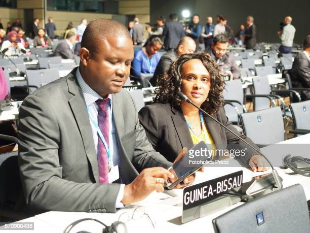 Guinea Bissau delegation at the plenary opening of the United Nations Framework Convention on Climate Change UNFCCC COP23
