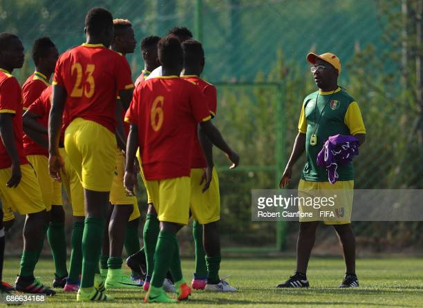 Guinea coach Mandiou Diallo during a Guinea training session for the FIFA U20 World Cup Korea Republic at the U20 World Cup Traing Field on May 22...