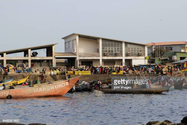guinea: discovering the port of boulbinet - guinea stock pictures, royalty-free photos & images