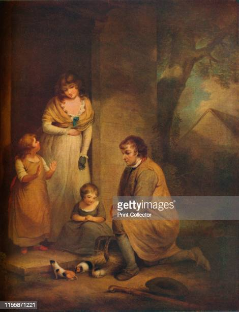 Guinea Pigs' circa 1789 Children play with guinea pigs watched by their mother The kneeling man with a basket is possibly an itinerant seller...