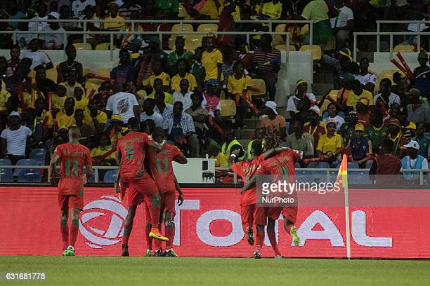 Guinea_Bissau celebrating their goal to 11 during the second half at African Cup of Nations 2017 between Gabon and GuineaBissau at Stade de lAmitié...