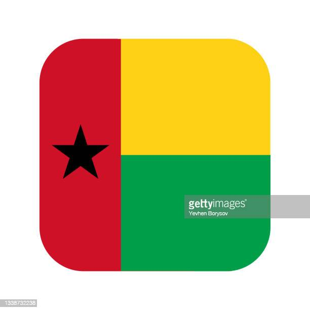 guinea-bissau flag simple illustration for independence day or election - insignia stock pictures, royalty-free photos & images