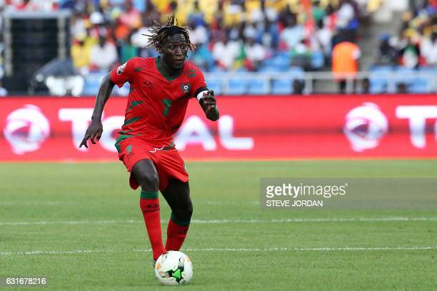 GuineaBissau's midfielder Zezinho controls the ball during the 2017 Africa Cup of Nations group A football match between Gabon and GuineaBissau at...