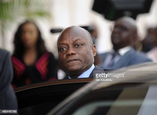 GuineaBissau's newly elected President Jose Mario Vaz leaves after holding talks with his Ivorian counterpart at the Presidential Palace in Abidjan...