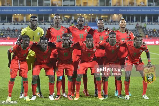 GuineaBissau's squad goalkeeper Jonas Mendes forward Frederic Mendy midfielder Nani Soares defender Juary Soares midfielder Toni Silva defender Tomas...