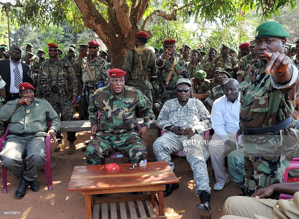 Guinean general Sekouba Konate(C), inter : News Photo