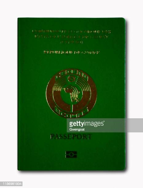 guinean passport isolated on a white background - gwengoat stock pictures, royalty-free photos & images
