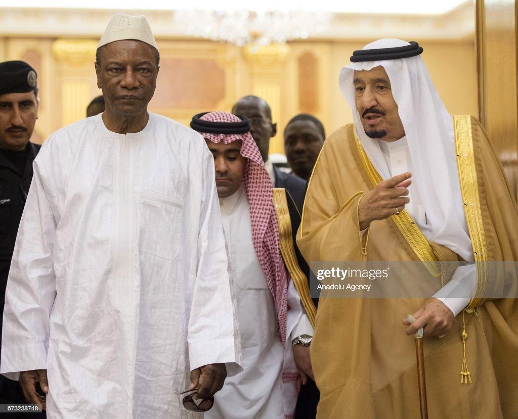 Guinean President Conde in Riyadh : News Photo