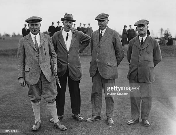 1000 Guineas Golf At Gleneagles L To R Harry Vardon Ted Ray James Braid and JH Taylor