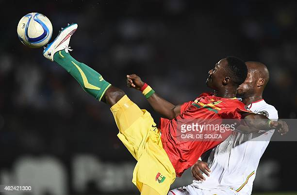 Guinea's midfielder Naby Keita controls the ball during the 2015 African Cup of Nations group D football match between Guinea and Mali in Mongomo on...