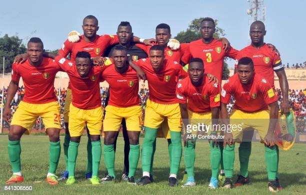 Guinea's National football team players NabyMoussa Yattara Fode Camara Sekou Conde Issiaga Sylla Alseny Bangoura Naby Keita Sadio Diallo Ousmane...