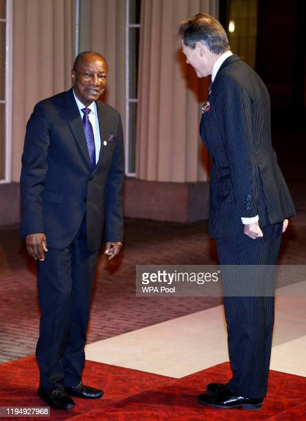 Guinea's President Alpha Conde arrives arrives as Prince William, Duke of Cambridge and Catherine, Duchess of Cambridge host a reception to mark the...