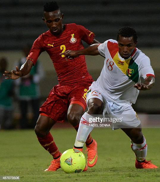 Guinea's Soumah Seydouba vies for the ball during their Africa Cup of Nations 2015 qualifying football match in Casabalanca on October 11 2014 AFP...