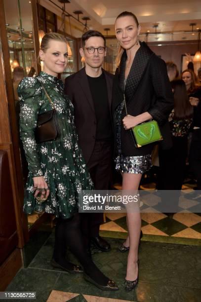 Guinevere Van Seenus designer Erdem Moralioglu and Jodie Kidd attend the official Erdem London Fashion Week dinner at J Sheekey Atlantic Bar on...