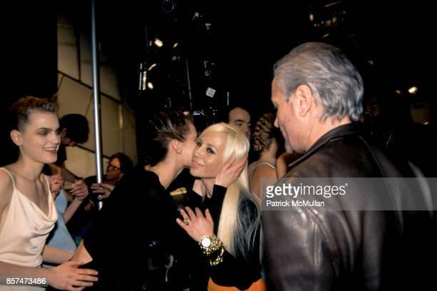 Guinevere van Seenus Shalom Harlow Donatella Versace Gianni VErsace Versus fashion show Bryant Park NYC March 26 1996