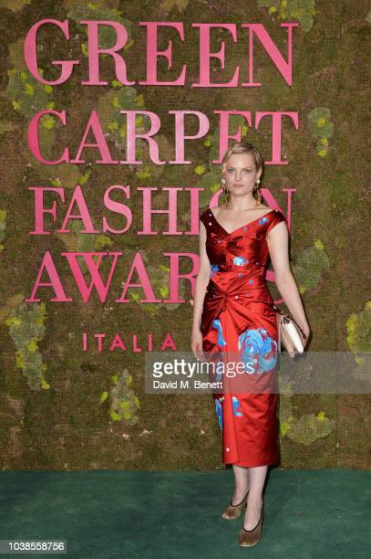 Guinevere Van Seenus, wearing Marni, attends The Green Carpet Fashion Awards Italia 2018 at Teatro Alla Scala on September 23, 2018 in Milan, Italy.