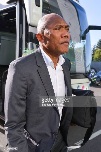 Guingamp head coach Antoine Koumbouare before the French Ligue 1 match between AS Saint Etienne and EA Guingamp at Stade GeoffroyGuichard on August...
