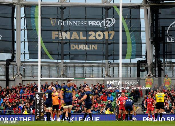 Guinness Pro 12 Final Branding during the Guinness PRO12 Final match between Munster and Scarlets at the Aviva Stadium on May 27 2017 in Dublin...