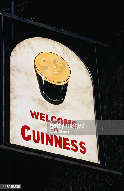 guinness sign - dublin, county dublin - guinness stock pictures, royalty-free photos & images