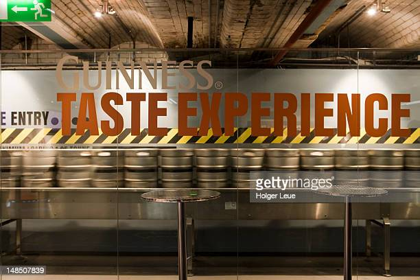 guinness taste experience at the guinness storehouse brewery. - guinness stock pictures, royalty-free photos & images