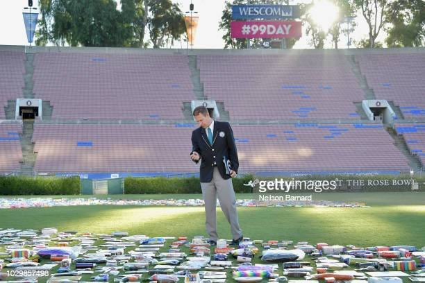 Guinness World Records Adjudicator Philip Robertson attends the 99 Cents Only Stores Celebrates Day By Setting A Guinness World Record At Rose Bowl...