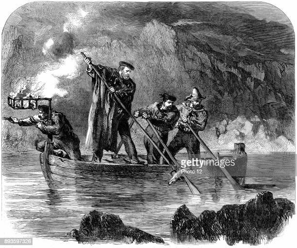 Guiseppe Garibaldi Italian patriot Garibaldi spearing fish at night off Caprera 18601861 In 1860 at the head of his l000 Red Shirts he conquered...