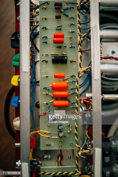 guitar amplifier circuit board. - amplifier stock pictures, royalty-free photos & images