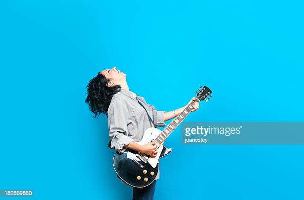 guitare chic - chanteur photos et images de collection