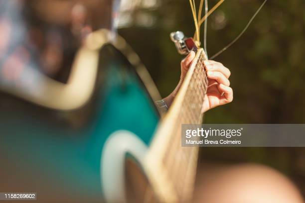 guitar chords - blues music stock pictures, royalty-free photos & images