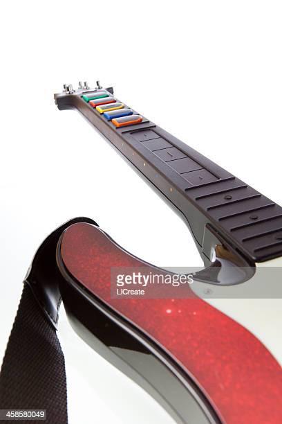 guitar hero controller - guitar hero stock photos and pictures