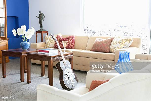 Guitar in modern living room