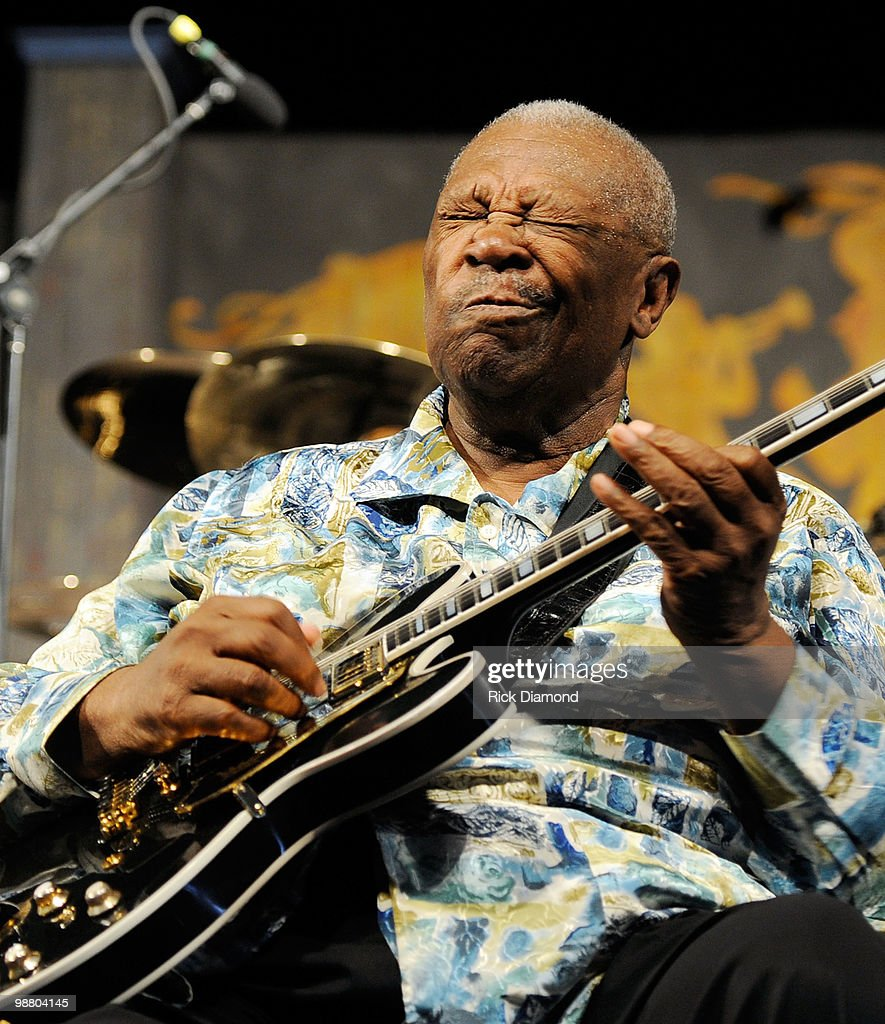 Guitar Legend B.B. King performs at the 2010 New Orleans Jazz & Heritage Festival Presented By Shell - Day 7 at the Fair Grounds Race Course on May 2, 2010 in New Orleans, Louisiana.