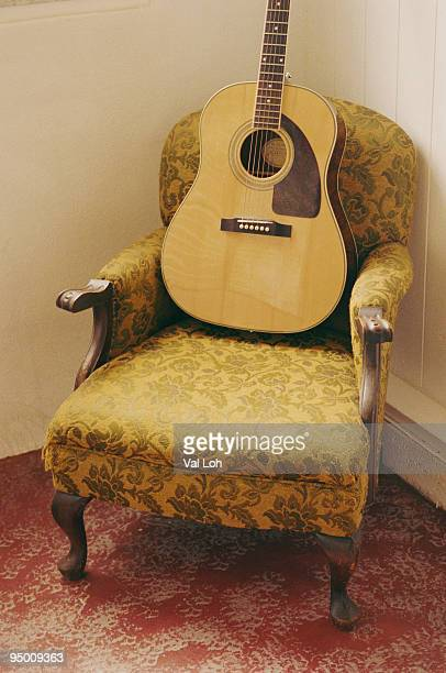 Guitar on chair